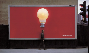 Billboard advert for The Economist